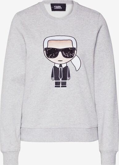 Karl Lagerfeld Sweatshirt 'ikonik karl' in graumeliert, Produktansicht