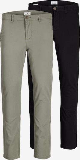 JACK & JONES Pantalon chino 'Marco' en vert pastel / noir, Vue avec produit