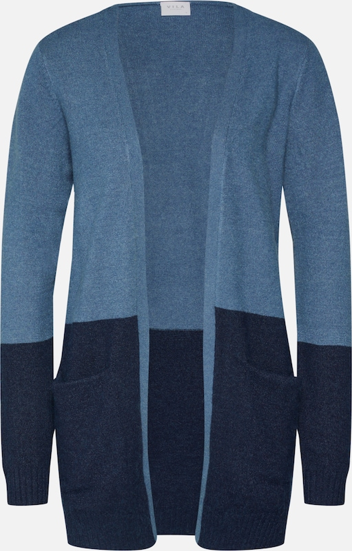 VILA Strickjacke 'VIRIL OPEN KNIT' in hellblau: Frontalansicht