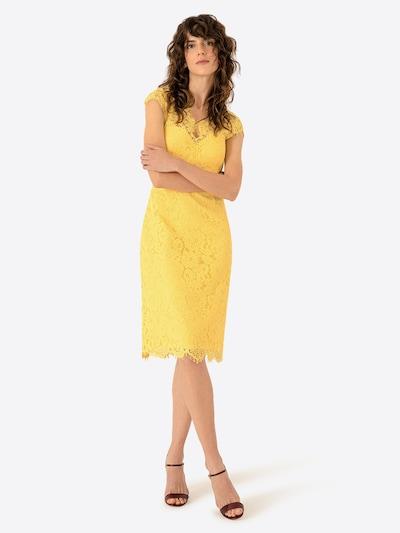 IVY & OAK Robe de cocktail en jaune, Vue avec modèle