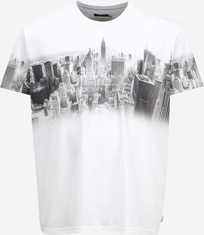 BURTON MENSWEAR LONDON (Big & Tall) T-Shirt 'Big and Tall White New York' en noir / blanc, Vue avec produit
