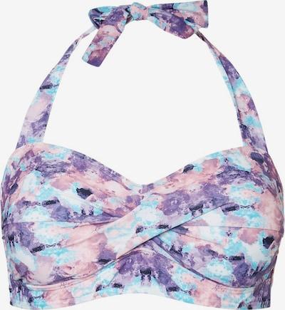 Junarose Hauts de bikini en bleu / violet / rose, Vue avec produit