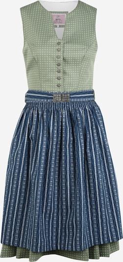 MARJO Dirndl 'Betti' | mornarska / svetlo zelena / bela barva, Prikaz izdelka