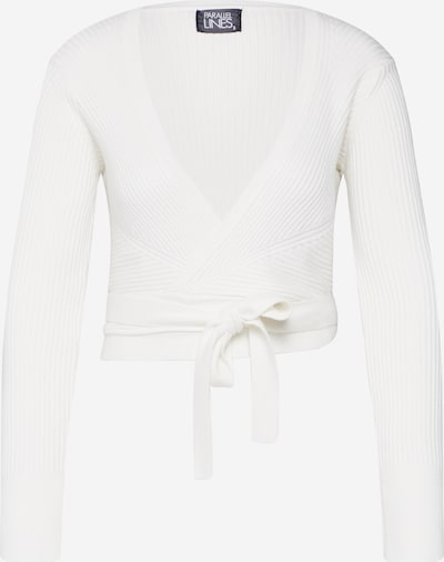 Parallel Lines T-shirt en crème / blanc, Vue avec produit
