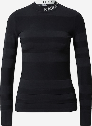 Karl Lagerfeld Pulover u crna / bijela, Pregled proizvoda