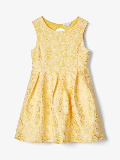 NAME IT Jacquard-Kleid in gold, Produktansicht