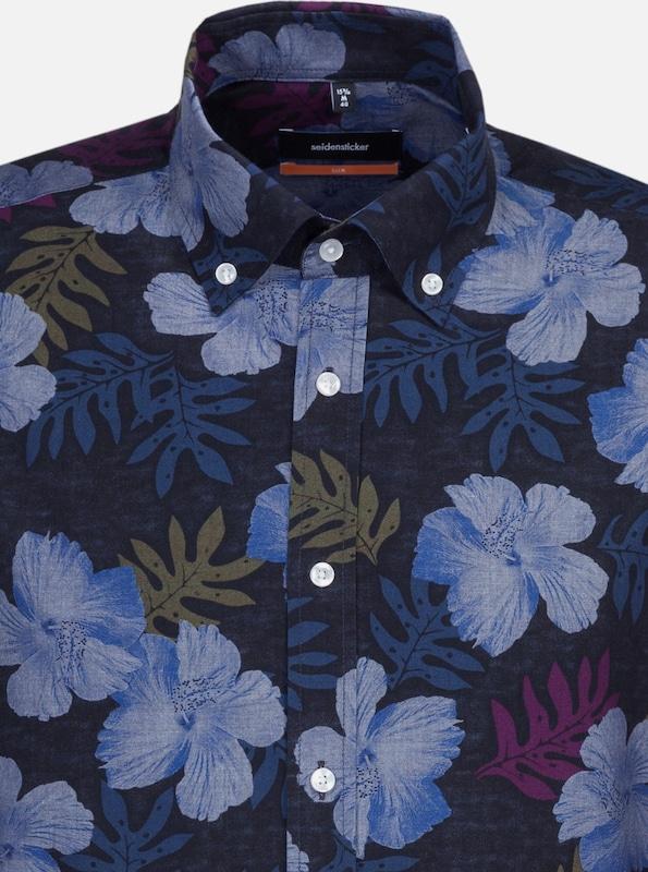 SEIDENSTICKER Hemd in hellblau   dunkelblau     khaki   eosin  Mode neue Kleidung 5fee78
