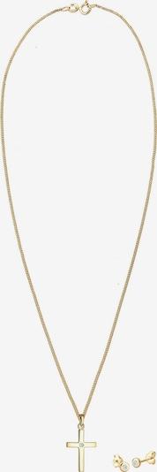 Diamore Schmuckset Kreuz, Solitär-Ohrring in gold, Produktansicht