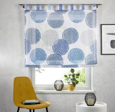 MY HOME Raffrollo in blau / hellgrau / weiß, Produktansicht