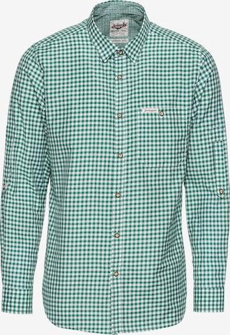 zaļš STOCKERPOINT Krekls ar tradicionālo rakstu 'Campos3'