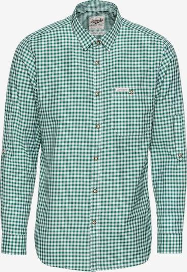 STOCKERPOINT Hemd 'Campos3' in dunkelgrün / weiß, Produktansicht