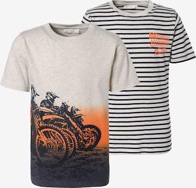 myToys-COLLECTION T-Shirt in beige / anthrazit / orange, Produktansicht