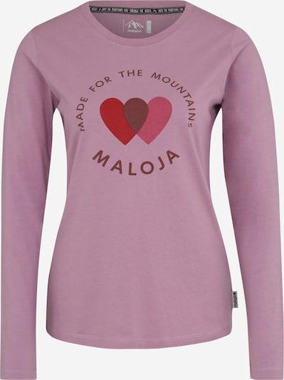 Maloja Sport-Shirt 'Fliana' in flieder, Produktansicht