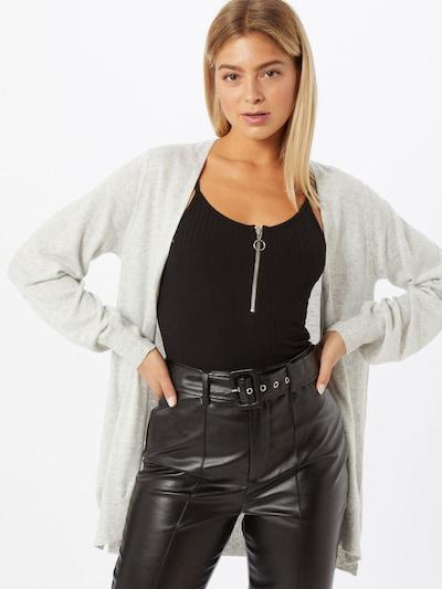 Gina Tricot Strickjacke 'Asta' in hellgrau, Modelansicht