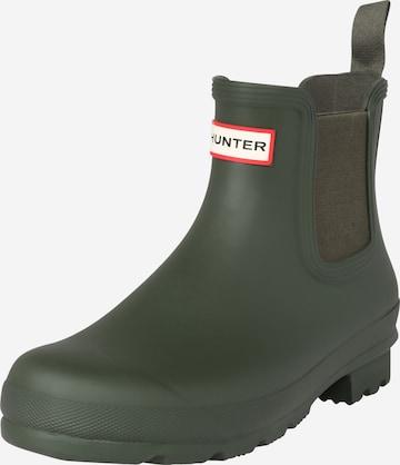 Chelsea Boots HUNTER en vert