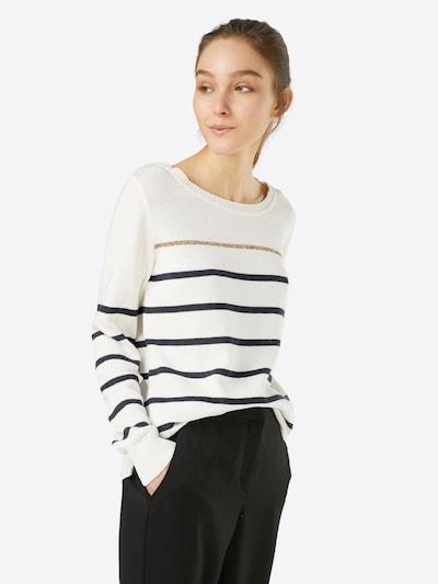 ABOUT YOU Pullover 'Meike' in dunkelblau / weiß, Modelansicht