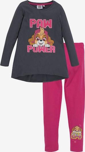 PAW Patrol Longshirt & Leggings (Set) in dunkelgrau / pink, Produktansicht