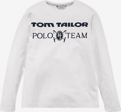 Tom Tailor Polo Team Shirt in schwarz / weiß, Produktansicht