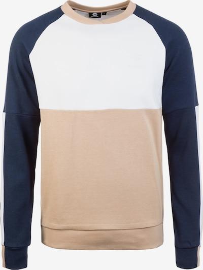 Hummel Sweatshirt 'Lowen' in hellbeige / navy / weiß, Produktansicht