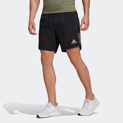 ADIDAS PERFORMANCE Shorts 'Own the Run' in silbergrau / schwarz: Frontalansicht