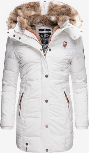 MARIKOO Wintermantel in weiß, Produktansicht