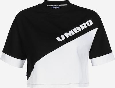 UMBRO Shirt ' Temp Crop W ' in de kleur Zwart / Wit, Productweergave