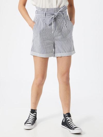 VERO MODA Pantalon à pince 'Eva' en bleu / blanc, Vue avec modèle