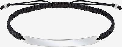 PAULO FANELLO Armband 'Geo, Knoten, Rechteck' in schwarz / silber, Produktansicht