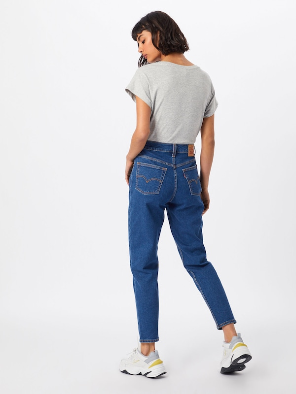 LEVI'S Jeans 'EXPOSED BUTTON MOM JEAN' in blue denim: Rückansicht