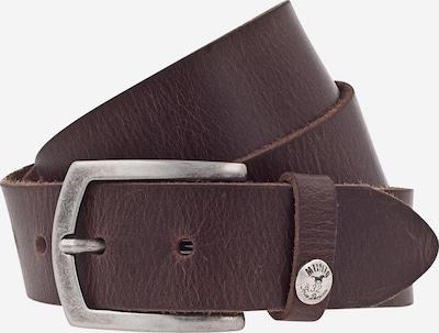 MUSTANG Opasky '35mm Ledergürtel' - tmavohnedá / strieborná, Produkt