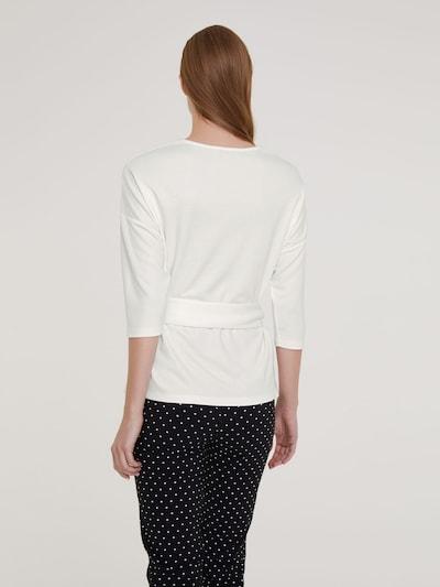 Marškinėliai iš heine , spalva - balkšva: Vaizdas iš galinės pusės