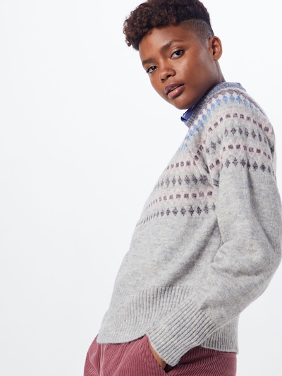 Y.A.S Pullover in grau, Modelansicht