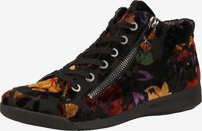 ARA Sneaker in goldgelb / rot / schwarz, Produktansicht