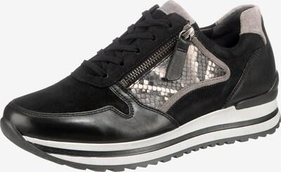 GABOR Sneakers Low in beige / schwarz / weiß, Produktansicht