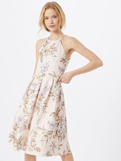 ABOUT YOU Šaty 'Jeromina' - žlutá / fialová / růžová: Pohled zepředu