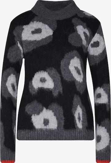 Key Largo Pullover 'HIDE' in hellgrau / schwarz / weiß, Produktansicht