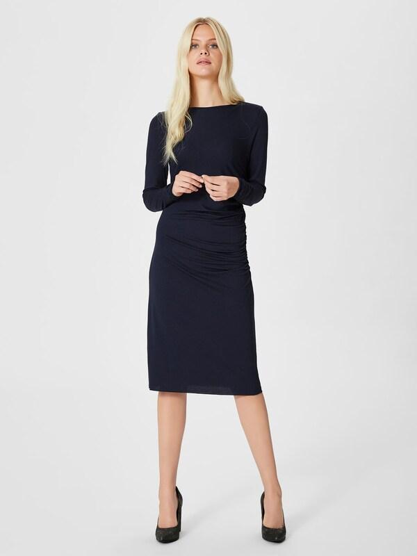 selected femme kleid mit langen rmeln viskose in blau. Black Bedroom Furniture Sets. Home Design Ideas