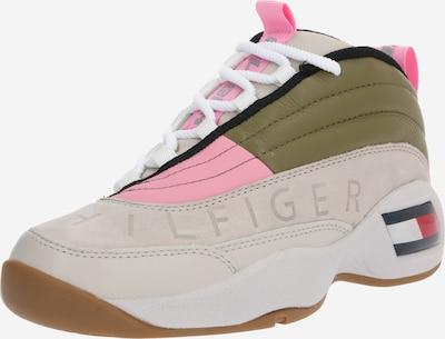 Tommy Jeans Sneaker 'WMNS THE SKEW HERITAGE SNEAKER' in grün / rosa / weiß, Produktansicht