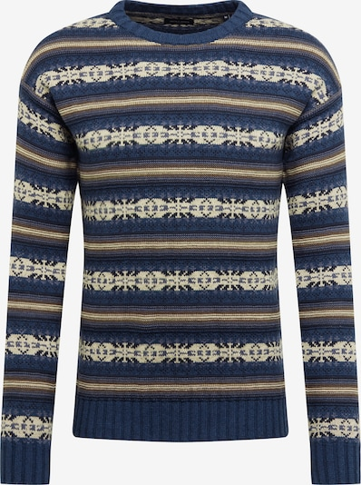 JACK & JONES Pullover 'ZACHARY' in beige / navy, Produktansicht