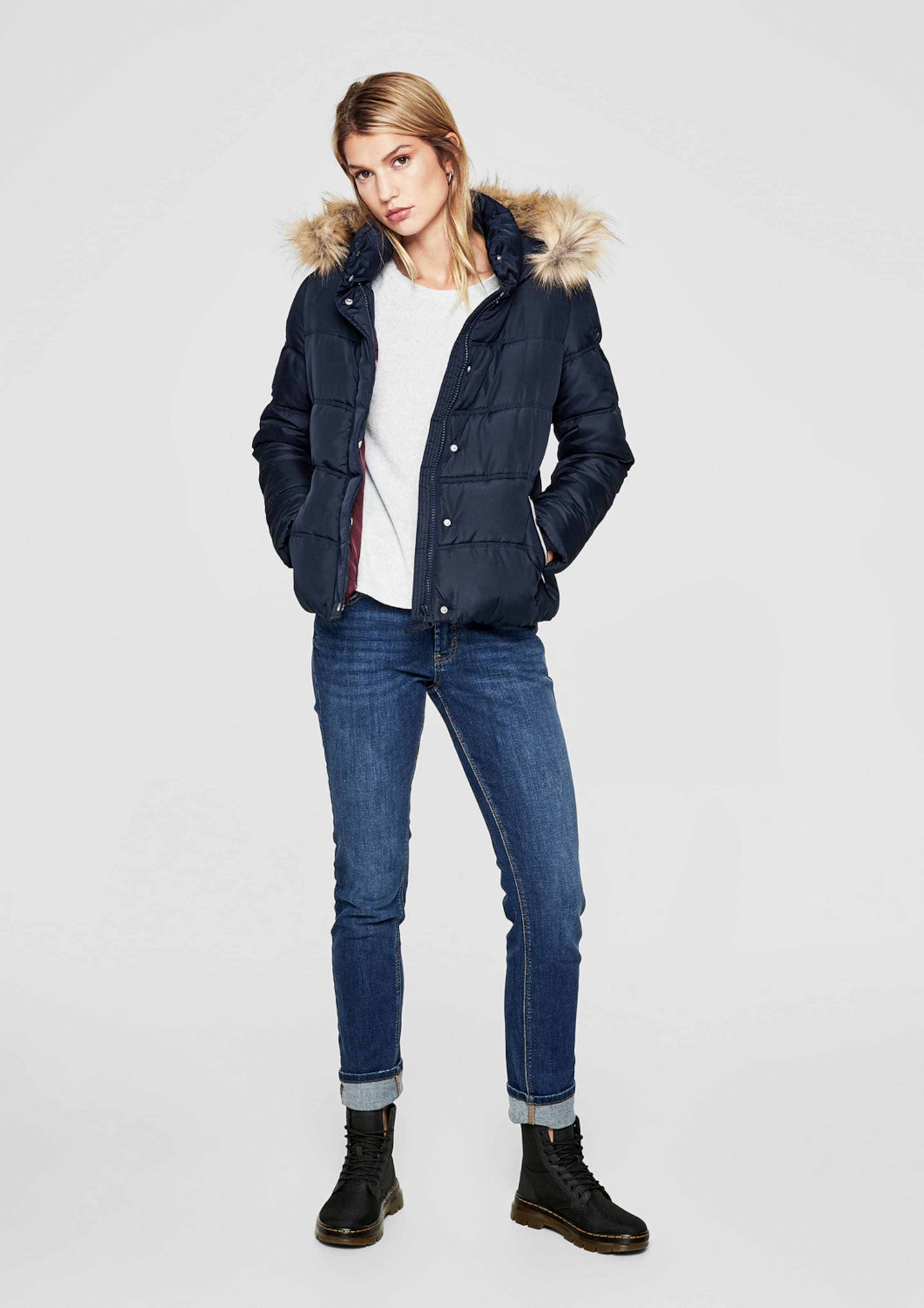 Designed In Q s Steppjacke Navy By hQsdCtr