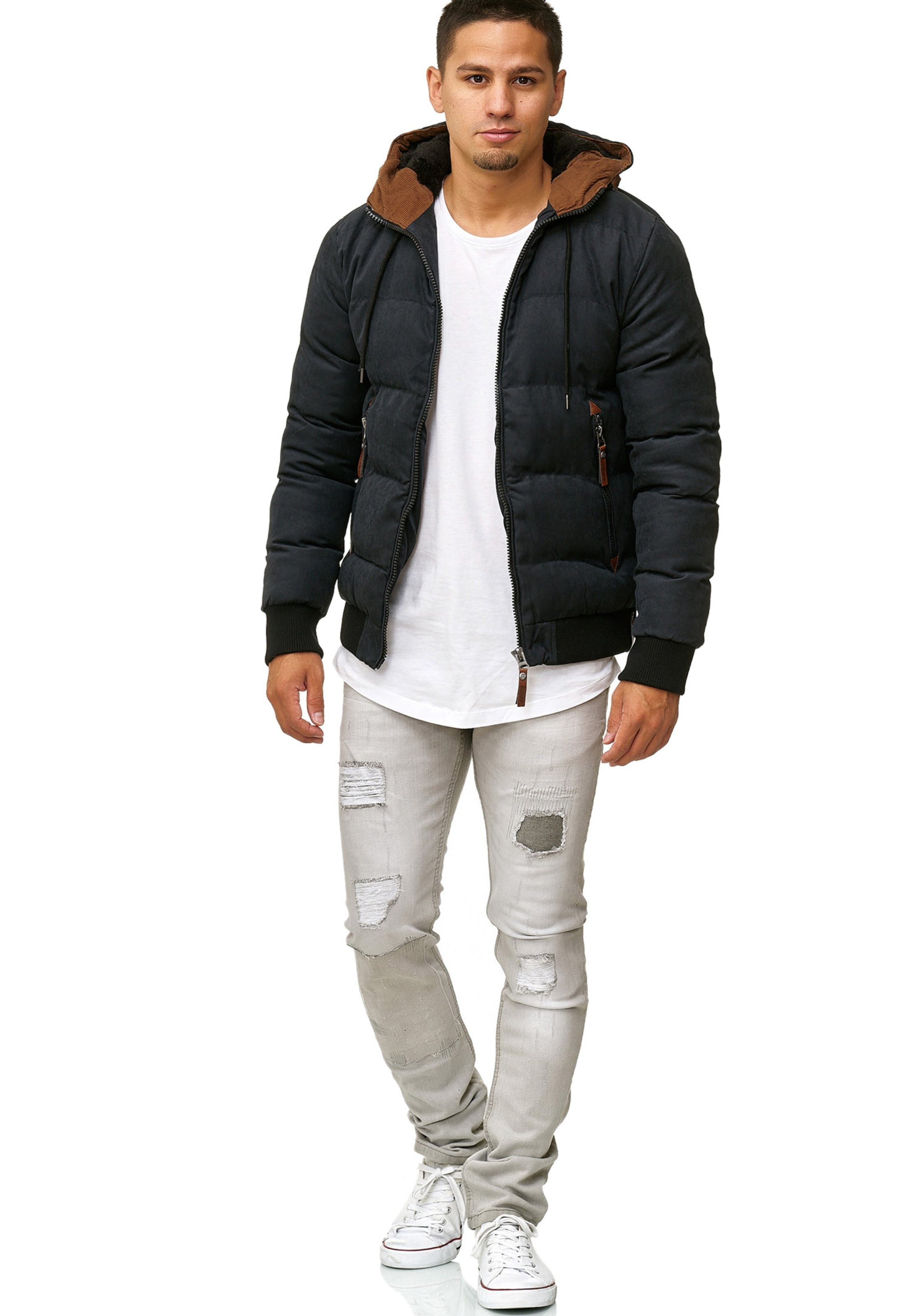 Veste D'hiver Indicode 'adeline' CognacNoir Jeans En TFKJ3l1c