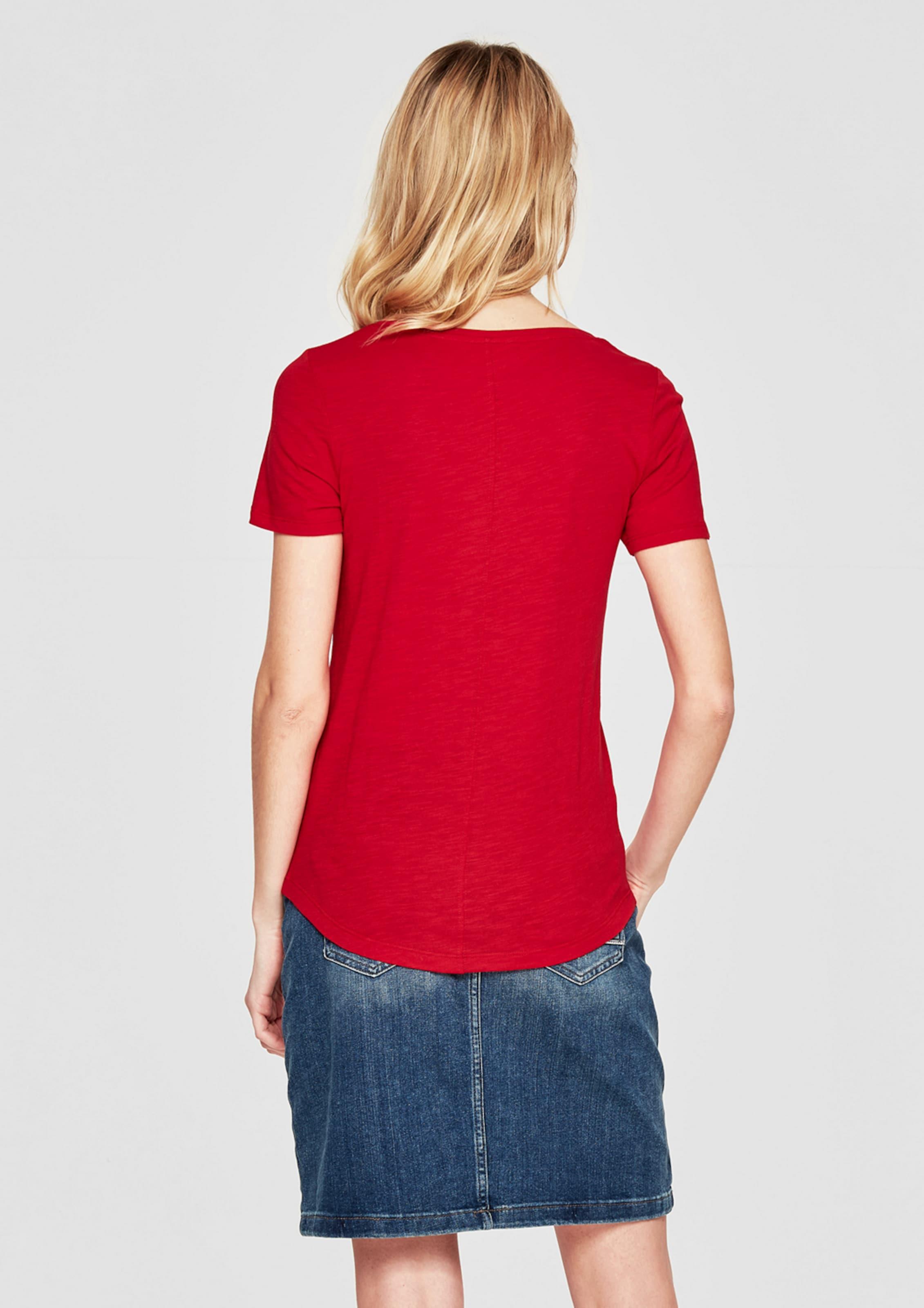 s.Oliver RED LABEL T-Shirt in Slub Yarn Billig Verkauf Aus Deutschland Billig Verkauf Extrem Shop Für Online Brandneue Unisex Günstig Online GiJLdhSZ