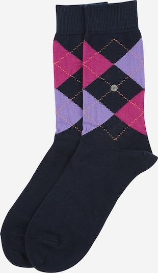 BURLINGTON Socke 'Queen Sock' in marine / lila / pink, Produktansicht