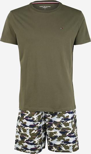 Tommy Hilfiger Underwear Pyjama court 'CN SS SHORT WOVEN SET PRINT' en vert foncé, Vue avec produit