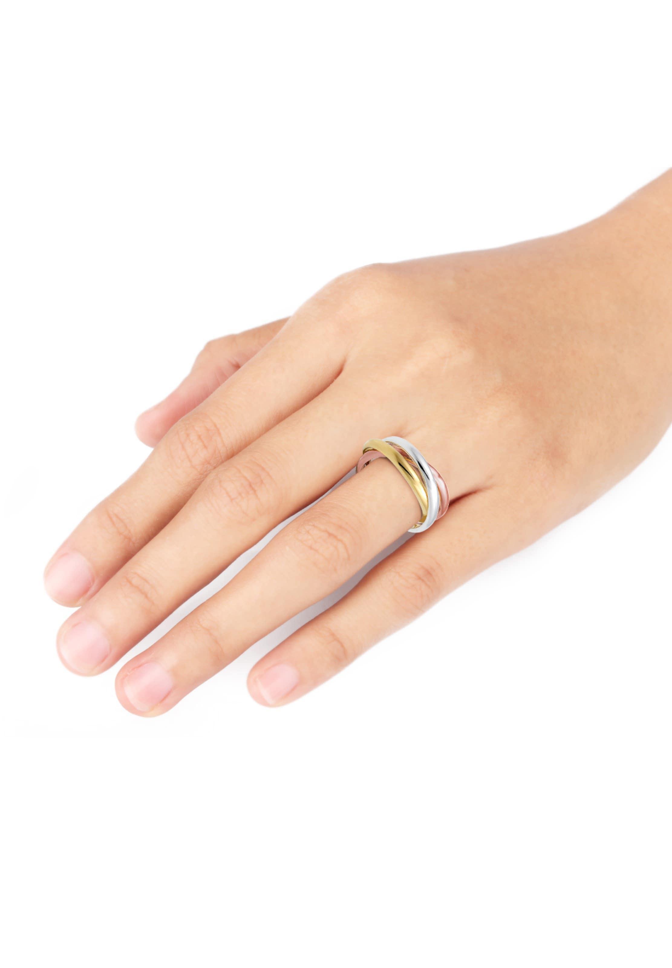 Elli In 'wickelring' GoldRosegold Silber Ring kPXuOiZT