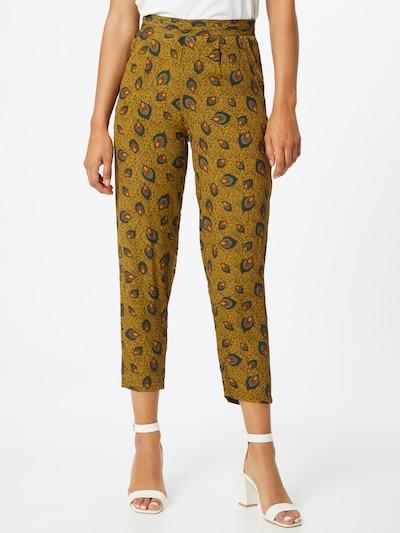 VILA Kalhoty 'Macie Shiva' - žlutá / tmavě zelená / oranžová, Model/ka