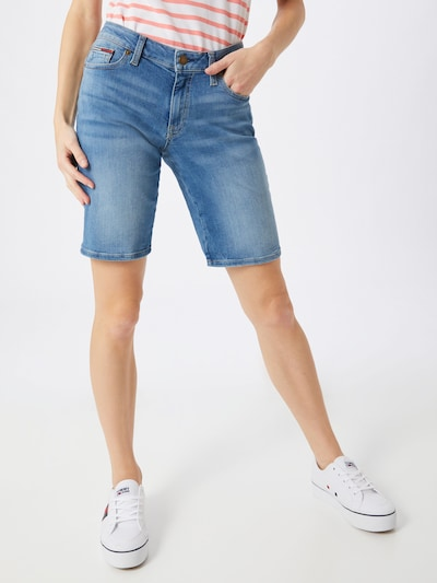 Tommy Jeans Bermudas 'MID RISE DENIM BERMUDA VCTL' in blau, Modelansicht