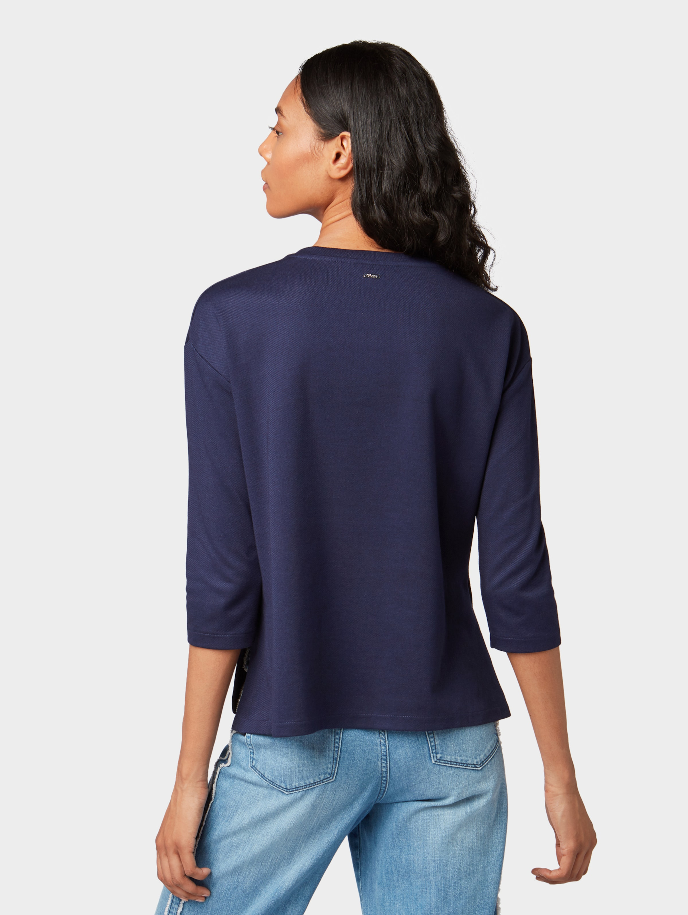 Tailor Sweatshirt In Denim NachtblauPink Tom f7mbvIYgy6