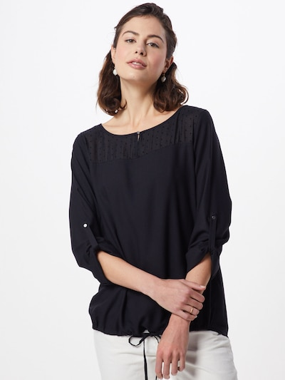 TOM TAILOR Bluse in schwarz, Modelansicht