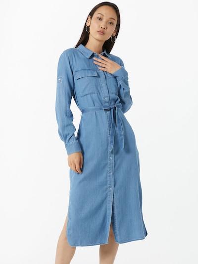 VILA Robe-chemise 'MAKENNA' en bleu denim: Vue de face